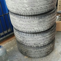 4 semi used 17 inch tyres