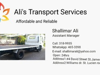 Ali's Transport Services