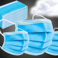 NEW BLUE DISPOSABLE FACE MASK 50 IN SEALED PACK.