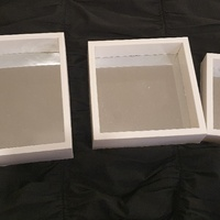 Three Square White Mirrors