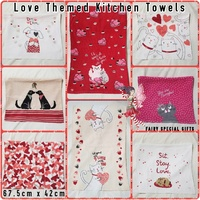 Love Themed Kitchen Towels