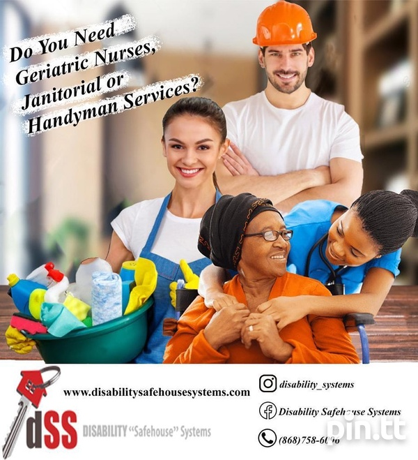 Contact us now for reliable Geriatric Nurses, Janitorial and Handymen