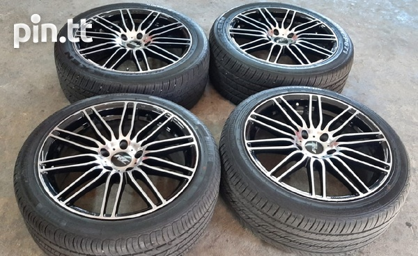 18 inch Black and Silver Rims and Tyres.-3