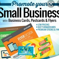 Labels, business cards, Logos