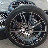 18 inch Black and Silver Rims and Tyres.