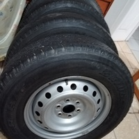6 hole van steel rims came off a Np300