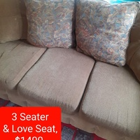 3 seater and love seat couch