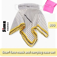 Ladies scarf face mask