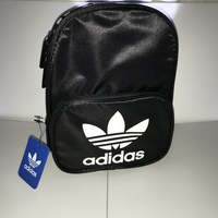 Santiago Mini Backpack - Black with White Logo