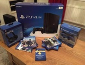 SONY PS4 PRO and controllers cds