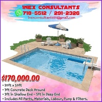 20ft x 10ft Swimming Pool Construction