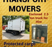 Transport, Movers -2.5 Enclosed tray.